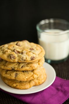Sea Salt, Cashew and Milk Chocolate Chip Cookies | browneyedbaker.com