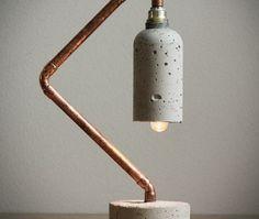 Love the idea for a DIY copper concrete lamp @istandarddesign