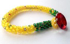 The Yellow Brick Road beaded kumihimo bracelet.