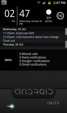 Customize your Android lock screen