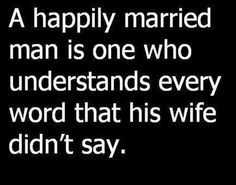 A happily married man…