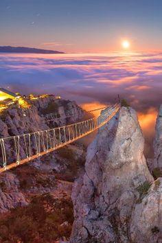 Mount Ai-Petri at Night, Crimea, Ukraine http://en.wikipedia.org/wiki/Ai-Petri