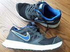 MENS 9 NIKE DOWNSHIFTER 6 RUNNING/CROSS TRAINER SHOES- BLACK/BLUE MESH/LEATHER