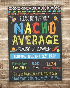 Fiesta taco baby shower invitation printable lets taco bout babies gender neutral baby shower invite nacho average baby shower invitation fiesta baby shower invitation mexican fiesta filmwisefo