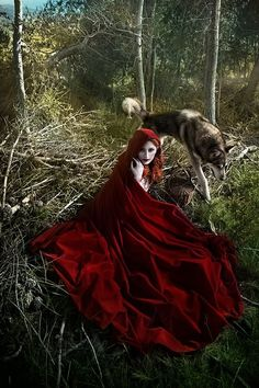 Red Ridding Hood and the Wolf. Fantasy/Fairytale Photography.