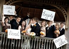..and they lived happily ever after! Love this with all of the bridal party!  i must have this wedding photo!