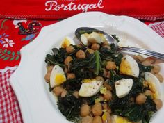 Kale and Chick Peas with Egg Recipe from Tia Maria's Blog