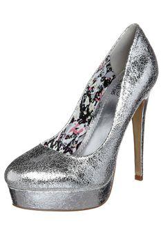 Zapatos altos - Even  Zalando ♡ Plateado