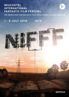 NIFFF 2016, Neuchatel International Fantastic Film Festival #affiche #festival #affichefestival #nifff #neuchatel