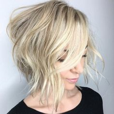 Messy Blonde Bob Hairstyle