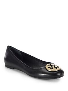 605afbb4c Tory Burch - Reva Leather Ballet Flats Leather Ballet Flats