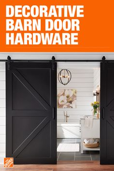 The Home Depot has everything you need for your home improvement projects. Click through to learn more about barn door hardware and more. - August 24 2019 at Diy Barn Door, Barn Door Hardware, Door Design, House Design, Bungalow, Curtain Styles, Interior Barn Doors, Home Reno, Closet Doors