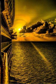 Sunset cruising Grand Cayman