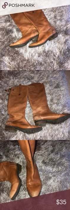 Sam Edelman Penny Riding Boots Sam Edelman Penny brown riding boot, a little worn but still in good condition Sam Edelman Shoes