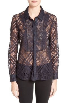 New Burberry Aster Lace Shirt WHITE fashion online. [$795] new offer from topshoppingonline<<