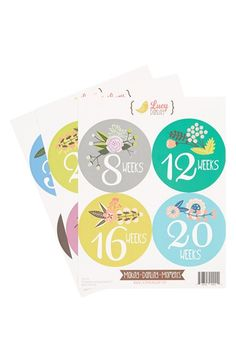 Must have these!!! Lucy Darling Shop Pregnancy Stickers (Set of 12) available at #Nordstrom
