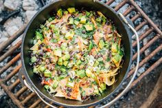 A beloved happy hour classic, now being served at a campground near you. What better way to end the day outside than with a cold beer, warm campfire, and a big potfull of cheesy nachos? As irresistible bar food and/or lazy weeknight dinner, nachos seem ideally suited to be a camping staple. They can be …