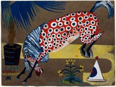 Clown, Horse, Salamandra, 1912 by Amadeo de Souza-Cardoso. Land Art, Horse Posters, Illustration Art, Illustrations, Diego Rivera, Expositions, Art Database, Oil Painting Reproductions, Outsider Art