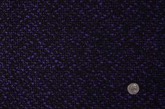 Black/Royal Purple Solid Boucle