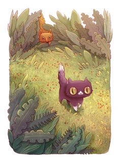 This new art series, created by Alena Tkach for NeonMob, is the story of a curious kitty named Pinkerton. Told through two beautifully illustrated images, our tiny hero makes new friends getting lost in the forest, and ultimately finding his way home.