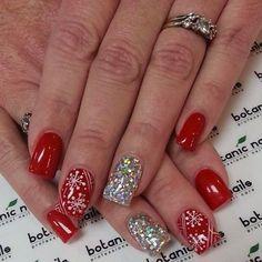 Fabulous nails colorsI really like. Holiday Acrylic Nails, Xmas Nails, Get Nails, Fancy Nails, Holiday Nails, Love Nails, Christmas Nails, Valentine Nails, Halloween Nails