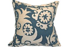 Vintage Suzani Embroidered Pillow