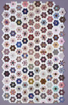 UK quilt, mid 19th century