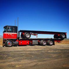 Coe Peterbilt custom 362 truck and pull trailer