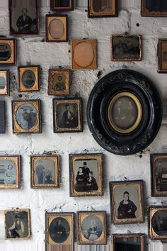 A Stunning Large Collection Of Sixty-Eight Mid 19thC Framed Ambrotype & Daguerrotype Portraits c.1840-60 Frame Wall Decor, Wall Art, Vintage Frames, Antique Frames, Vignettes, Decoration, Picture Frames, Old Things, Gallery Wall