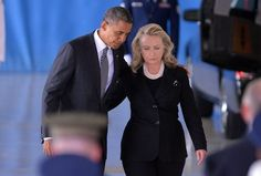 President Barack Obama and Secretary of State Hillary Rodham Clinton attend the transfer of remains ceremony at Joint Base Andrews Friday. Black Presidents, Greatest Presidents, American Presidents, American History, Obama Hillary, Hillary Rodham Clinton, First Black President, Mr President, Michelle Obama