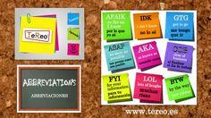 ABREVIACIONES, tomate unos segundos y aprende. ABBREVIATIONS, take a few seconds and learn