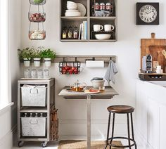 Mission Modular Kitchen Collection from Pottery Barn Small Apartment Decorating, Apartment Interior Design, Decorating Small Spaces, Interior Design Kitchen, Decorating Ideas, Decor Ideas, Interior Decorating, Decorating Kitchen, Room Ideas