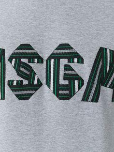 MSGM Logo Embroidered Sweatshirt - Farfetch