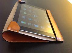 Leather ipad case by Karampetsos on Etsy