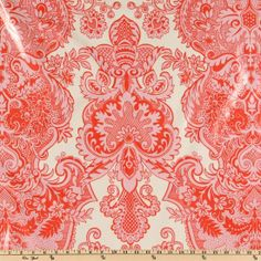 LAMINATED cotton fabric - Sandlewood love by Amy Butler (aka oilcloth, coated vinyl fabric) - WIDE BPA free