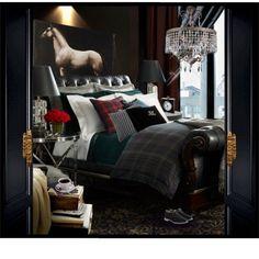 ralph lauren bedroom design ideas best interiors images on master bedroom in spanish Masculine Room, Masculine Interior, Home Interior, Interior Design, Interior Decorating, Equestrian Decor, Equestrian Style, My New Room, Beautiful Bedrooms