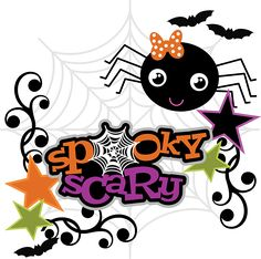 Spoky Scary SVG Scrapbook Collection halloween svg files for scrapbooking spider web svg file
