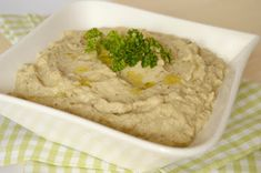 Citromhab: Padlizsánkrém Eggplant, Hummus, Mashed Potatoes, Lemon, Yummy Food, Meals, Ethnic Recipes, Blog, Whipped Potatoes