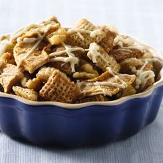 How 'bout them apples? Cinnamon Chex™ adds a festive flavor to this fun fall snack.