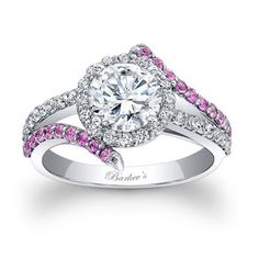 Ring with pink saphires ~ Wedding Ideas