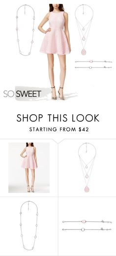"""""""Rose Quartz"""" by eryn-shimizu on Polyvore featuring GUESS and Chloe + Isabel"""
