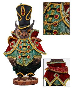 """Katherine's Collection Imperial Guardsman Christmas Collection Approx 19"""" Edwin Hoots Tabletop Owl Free Ship-IN STOCK"""