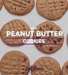 You'll be pleasantly surprised how simple and delicious these 3 ingredient Keto Peanut Butter cookies are! We like to add chocolate chips to ours, but keep it classic if you'd like. These cookies bake up crunchy, but read the notes below for tips on making a softer cookie. 9 NET CARBS PER COOKIE