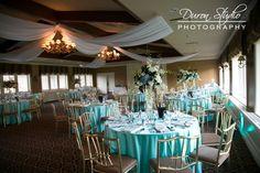 Great space for Chicago brides   Evanston Golf Club   Linda & Frank  (c) Duron Studio Photography  www.duronstudio.com