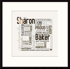 Personalised Word Art print - Quintessentially You