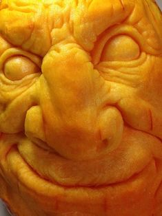 How to Carve a Realistic Face on a Pumpkin: 11 Steps (with Pictures) Pumpkin Face Carving, Pumpking Carving, Awesome Pumpkin Carvings, Creepy Pumpkin, Pumpkin Art, Pumpkin Faces, Pumpkin Crafts, Pumpkin Ideas, Pumpkin Designs