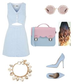 """""""Untitled #57"""" by nadia-taha on Polyvore featuring Topshop, Norma J.Baker, La Cartella, Miu Miu, Forever 21, women's clothing, women's fashion, women, female and woman"""