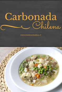 En su versión seca o en sopa la carbonada, es una receta chilena nutritiva y adaptable a las verduras que tengas en casa. Kitchen Recipes, Baby Food Recipes, Cooking Recipes, Healthy Recipes, Latin American Food, Latin Food, Chilean Recipes, Chilean Food, Houston Food