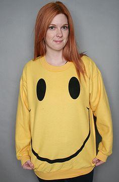 Smile Boyfriend Sweatshirt by Burger And Friends
