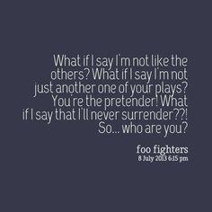 """Foo Fighters Lyrics   foo fighters lyrics """"the pretender"""""""